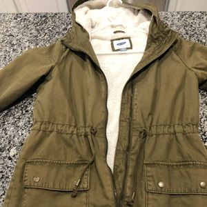 Old Navy Fleece Lined Cargo Jacket.  Size XS